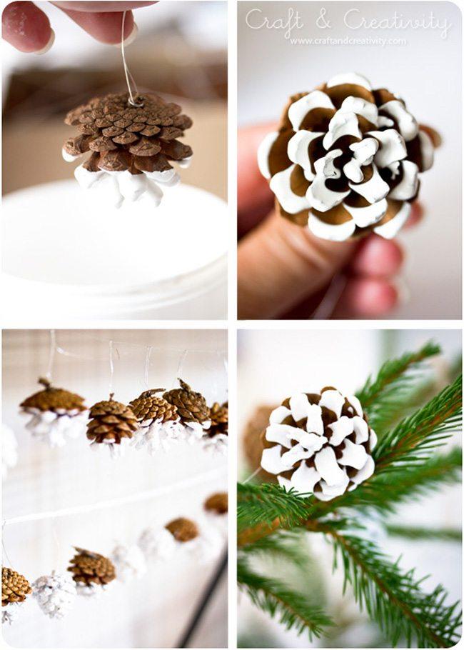 Χριστουγεννιάτικη διακόσμηση με κουκουνάρια! #1