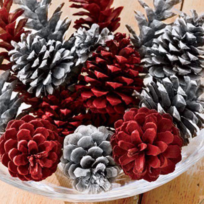 Χριστουγεννιάτικη διακόσμηση με κουκουνάρια! #4