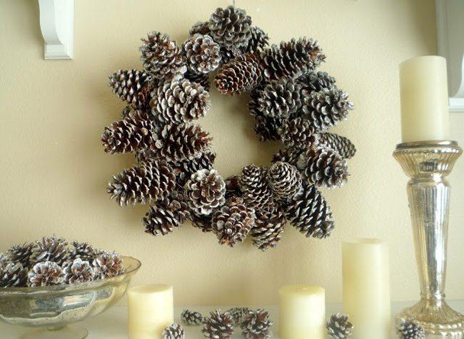 Χριστουγεννιάτικη διακόσμηση με κουκουνάρια! #6